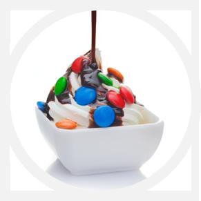 slider ice cream ragazza coppa