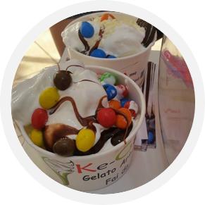 slider ice cream ragazza coppa cioccolato