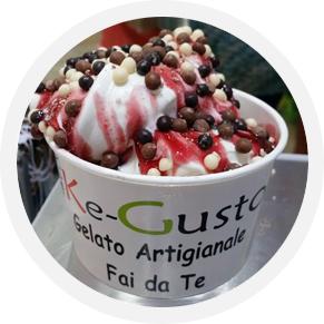 slider ice cream ragazza coppa frutta