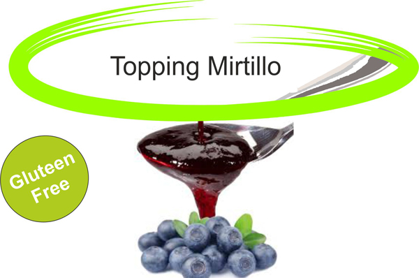 Topping mirtillo