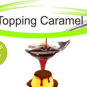 Topping creme caramel