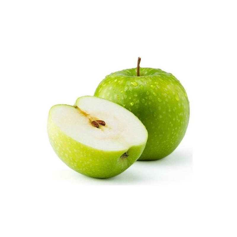 Topping green apple
